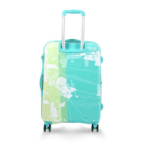 Aquarius green bag behind