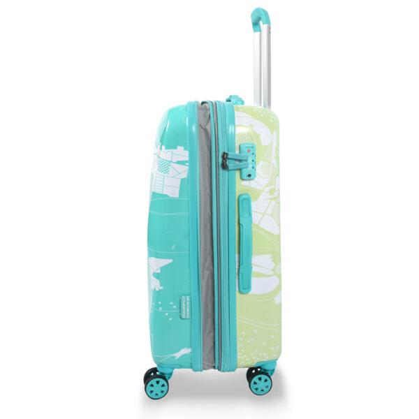 Aquarius green bag sideways