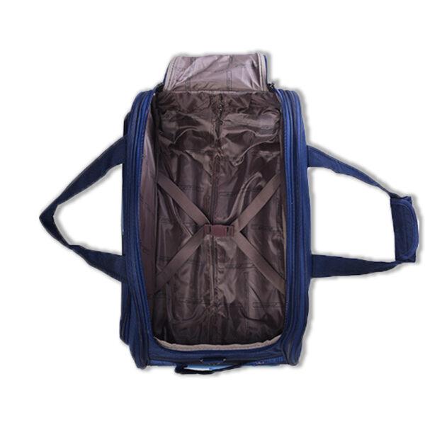 Travellon blue bag interior